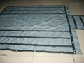 Steel Tarpaulin with brass grommets and