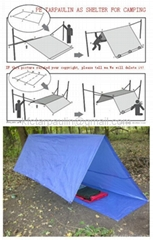 Attractive Blue Tarpaulin Groundsheet Cover