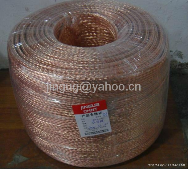 Jingu Bare Copper Braided Earthing Wire Bonding Leads