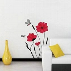 Flower & Dragonfly(Red)