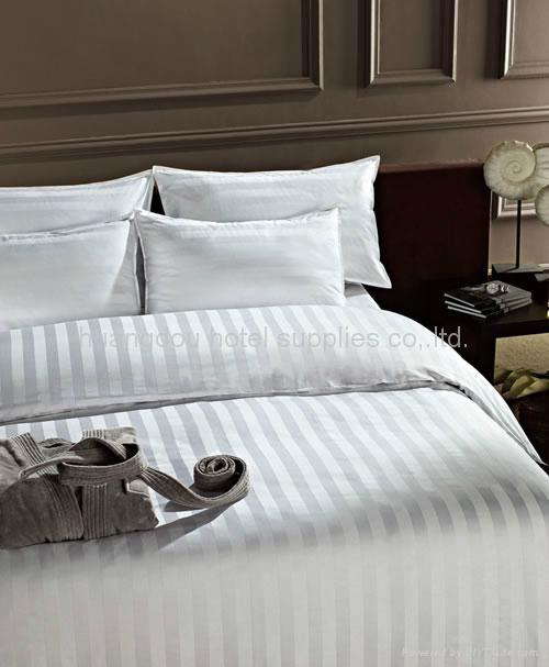 Bedsheet Hotel Bed Sheet Bed Clothes 3cm Stripe Hotel