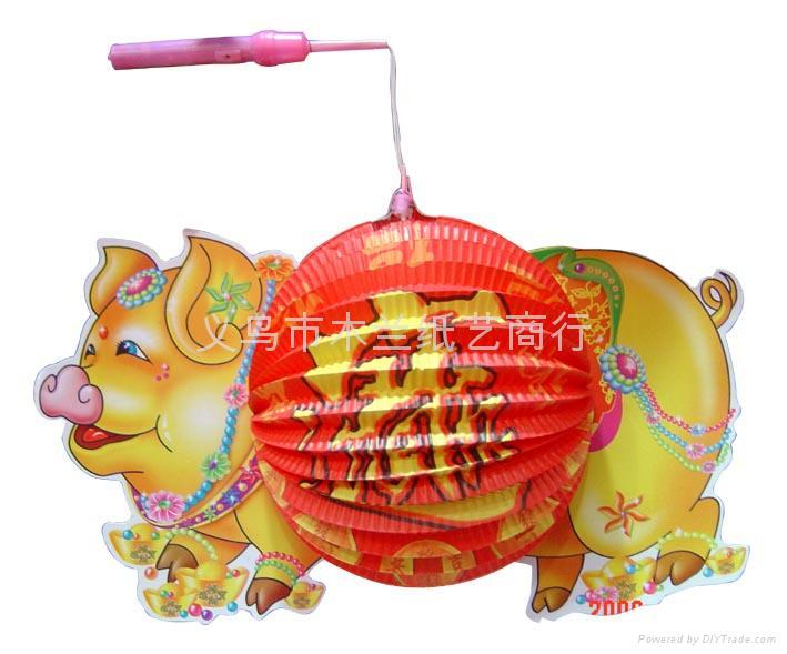 富贵猪灯笼图片
