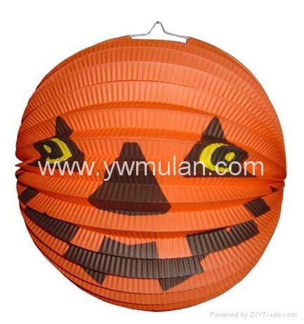 pumpkin paper lantern 1