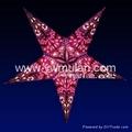 christmas star paper lantern decoration