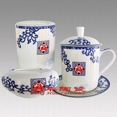 办公礼品陶瓷四件套