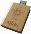Customized Promotional Wooden Book USB Flash Stick Memory Drives