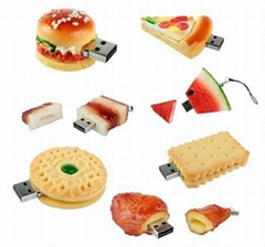 Food Shape PVC USB Drive