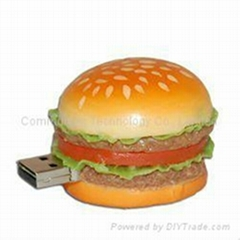 PVC Food  usb drive usb flash disk