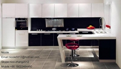 White Lacquer Kitchen Cabinets with High Quality