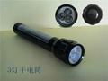 太陽能手電筒 3LED鋁合金手