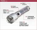 太陽能手電筒 1W強光手電筒  1