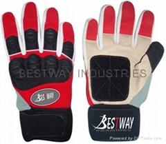 Skateboard slide gloves
