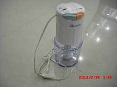 white plastic food processor