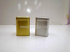 metal packaging tea tin food container without picture