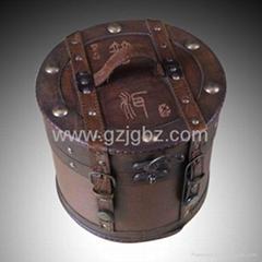 Pu'er wooden box tea container