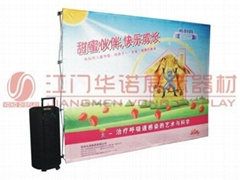 Aluminium alloy Pop Up Display with megnet Fabric Tape Square Shipping Case with