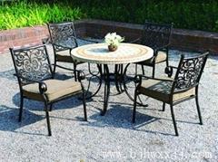 大连花园铸铝桌椅