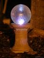 solar crackled glass ball light