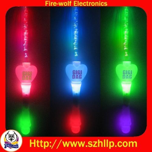fiber glow stick,LED flashing fiber stick 1