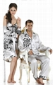 lovers summer silk sleepwear, night