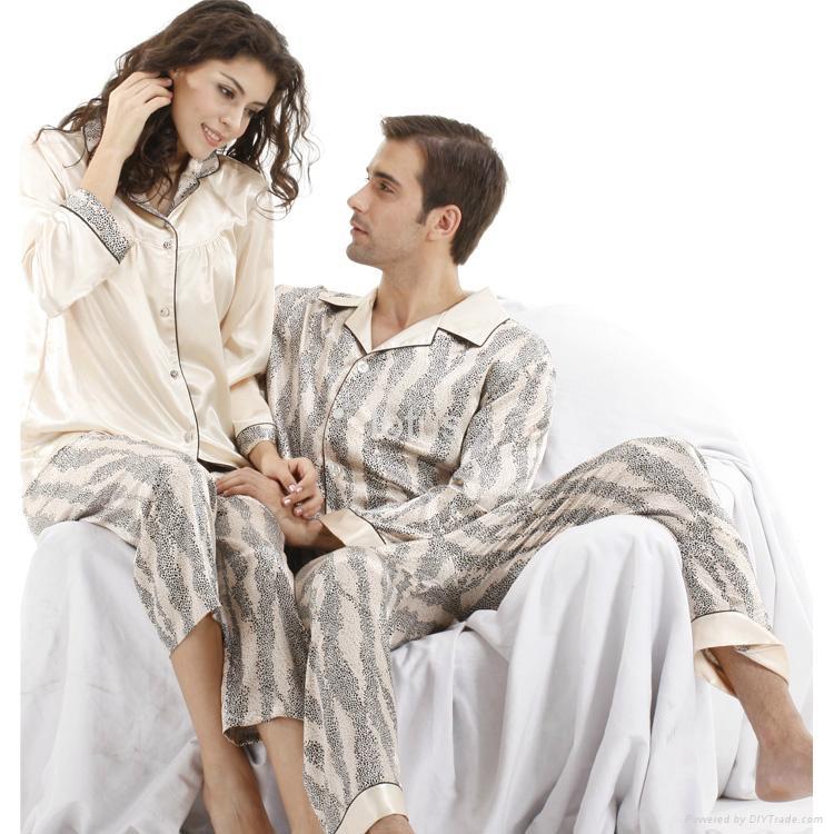 lover sleepwear set autumn and winter silk sleepwear female lovers sleep set  ... 88824a54a