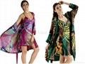 Spring and summer silk sleepwear female