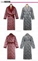 winter men's long-sleeve thickening coral fleece thermal bath robe 2