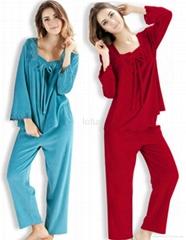 Autumn sleep suit female long-sleeve coral fleece pajamas set good quality