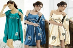 women 2piece twinset sleepwear plus size ladies evening gown