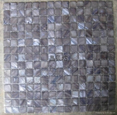 Dyed color Square River Shell Mosaic
