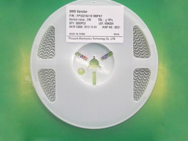 Multilayer chip varistor 0805 1206 1210 1812 3225 4032 1