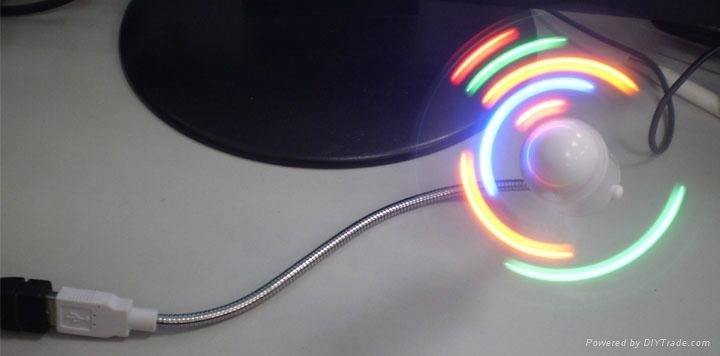 USB LED Message fan 4