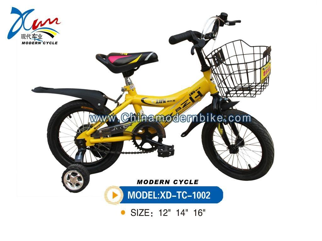 12 inch yellow kid bike 1