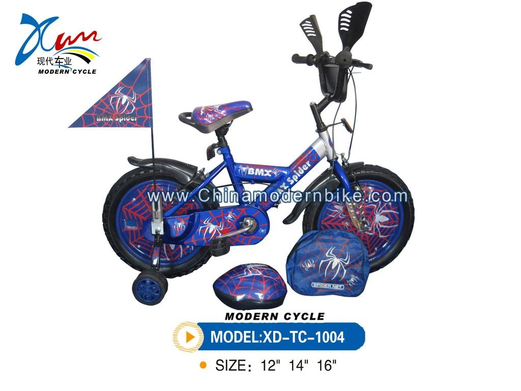 Spiderman kid bicycle with rim cover 2