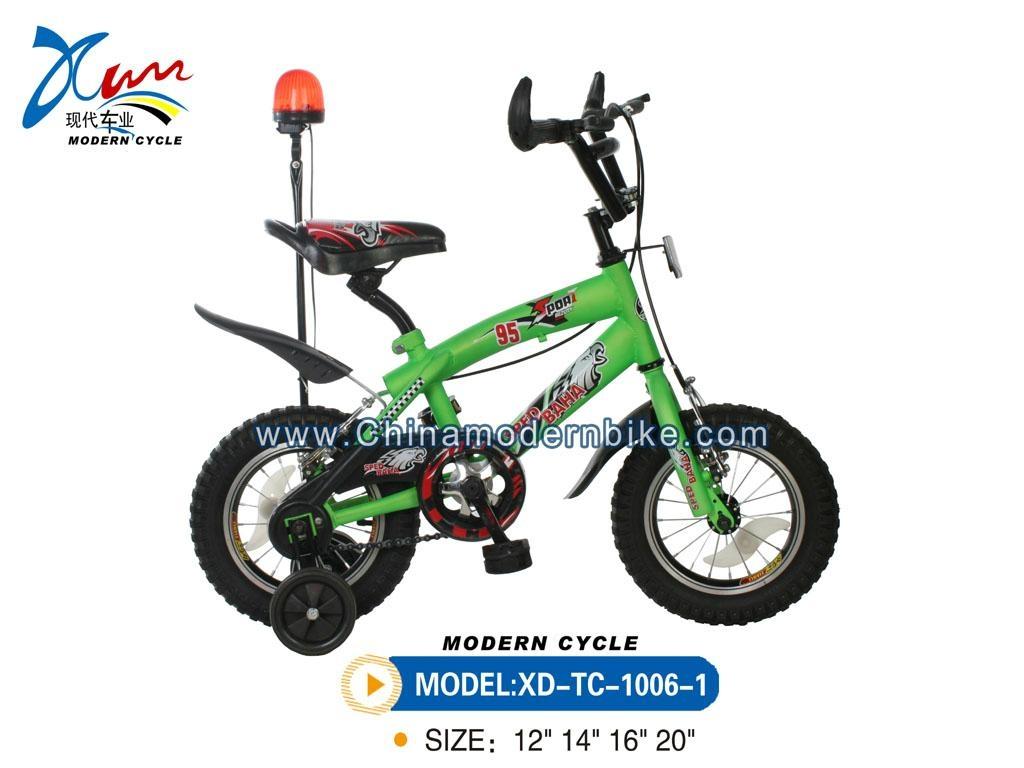 BMX bike with warning lamp 1