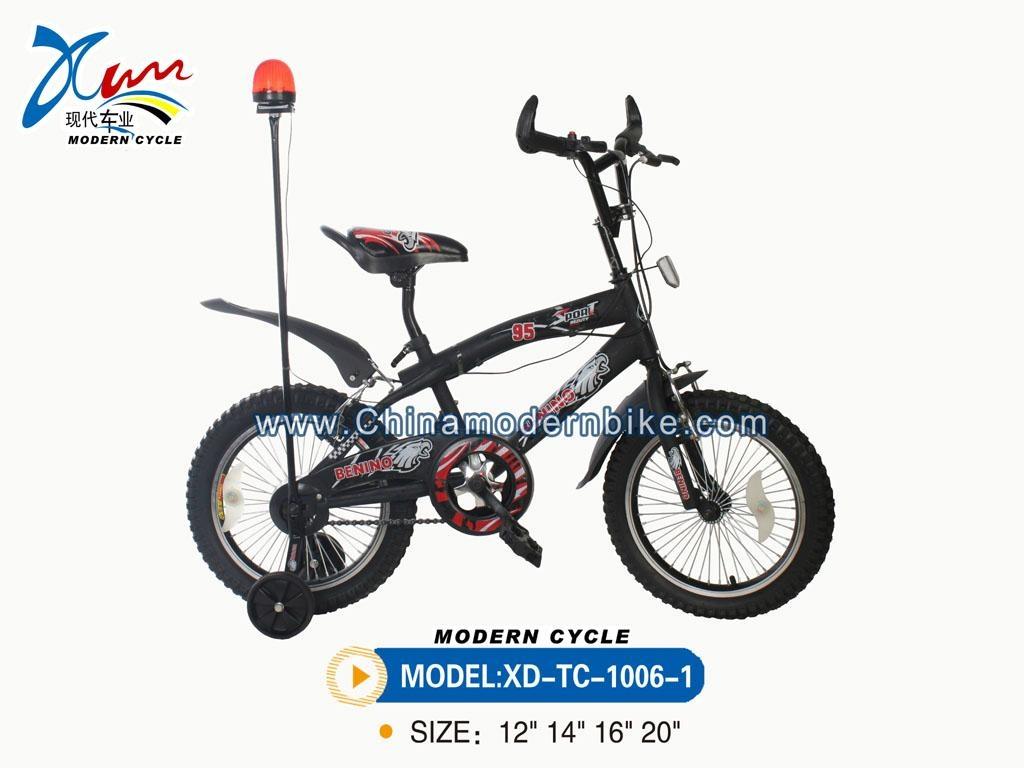 BMX bike with warning lamp 2