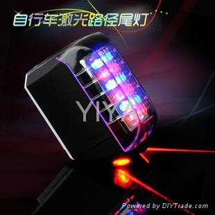 newest rechargeable bike light with laser beam BI-001 1