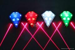 Laser LED bicycle light