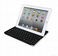 IK-103 iPad2/3 Aluminium bluetooth Keyboard case with bracket