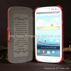 Leather Case for Samsung Galaxy S3/i9300