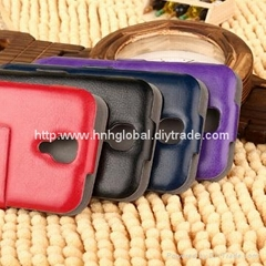 Leather Mobile Phone Case for Samsung Galaxy S4