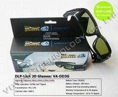 Universal DLP Link 3D shutter Glasses for All brands DLP 3D Projectors and DLP L