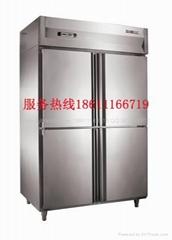 Four stainless steel freezer