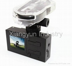 HD 720P dual lens Mini dvr camera car black box with GPS tracker voice speech
