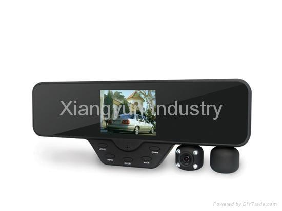 HD 1080P rearview mirror dvr camera car black box dash cam with dual lens 1