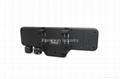 HD 1080P rearview mirror dvr camera car black box dash cam with dual lens 2