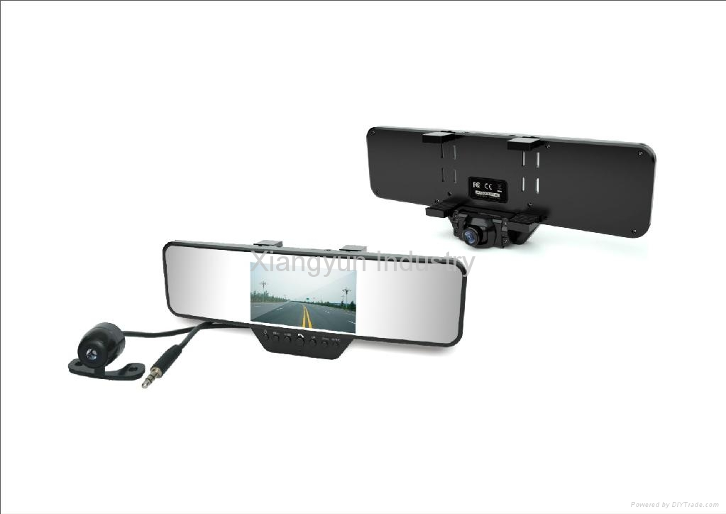 HD 720P rearview mirror dvr canera car black box with Bluetooth/GPS 1