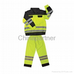 Hi vis two tone coverall safety clothing