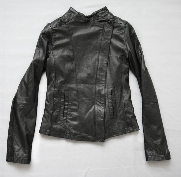 青岛女式皮衣 斜拉链女式皮衣/皮衣青岛专卖 1