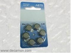 A675/PR44 Hearing Aids Battery